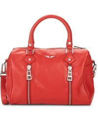 Zadig & Voltaire Women's Small Sunny Top Handle Bag - Rouge - Red