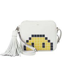 Anya Hindmarch Pixel Leather Crossbody Bag - Natural