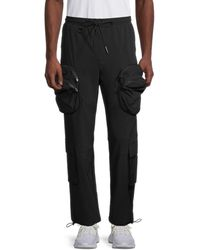 American Stitch Double-pocket Cargo Sweatpants - White