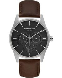 Kenneth Cole Dress Sport Stainless Steel & Leather-strap Watch - Multicolour