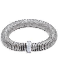 Alor Stainless Steel, 18k White Gold & Diamond Bracelet - Metallic