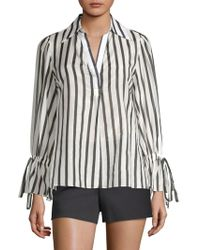 Alice + Olivia Geraldine Striped Tunic - Grey