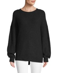 Saks Fifth Avenue Black - Oversized Crewneck Jumper - Lyst