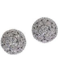 Effy Snowflake Diamond And 14k White Gold Stud Earrings, 0.54tcw - Metallic