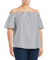 a96ddfc9f62dd Lyst - Vince Camuto Plus Size Off-The-Shoulder Blouse in Black