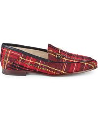 Sam Edelman Loraine Tweed Loafers - Red