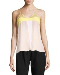 Sandro - Ever Colorblock Sleeveless Top - Lyst
