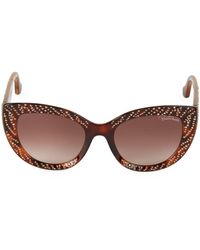 Roberto Cavalli Studded 54mm Butterfly Sunglasses - Brown