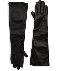Saks Fifth Avenue Metisse Long Tech Gloves - Black