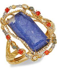 Alexis Bittar Mosaic Halo Multi-stone Bracelet - Blue