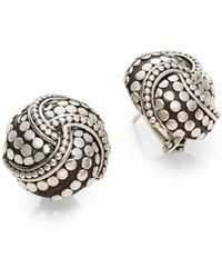 John Hardy Dot Twirl Round Earrings m0ARKq