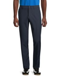 J.Lindeberg Men's Classic-fit Flat-front Trousers - White - Size 36 32