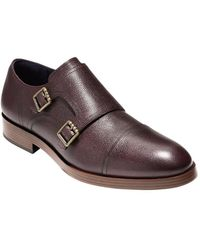 Cole Haan - Henry Grand Leather Double Monk Straps - Lyst