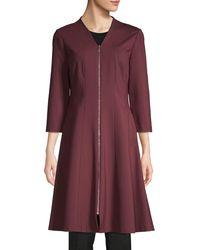 Lafayette 148 New York Rosalie Zip-up A-line Dress - Purple