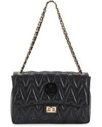 Valentino By Mario Valentino Posh Sauvage Stud-embellished Leather Shoulder Bag - Black
