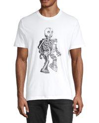 French Connection Robot Skeleton Cotton Tee - White