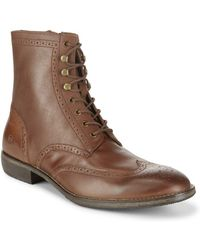 Andrew Marc - Hillcrest Wingtip Leather High-top Boots - Lyst