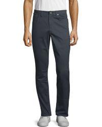 Saks Fifth Avenue 5 Pocket Sateen Pants - Blue