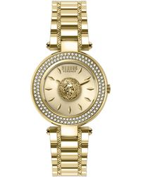 Versus Swarovski Crystal Goldtone Stainless Steel Bracelet Watch - Metallic