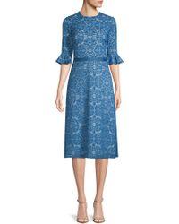 Kay Unger - Lace A-line Dress - Lyst