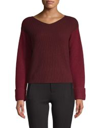 Vince - Colorblocked Cashmere Sweater - Lyst
