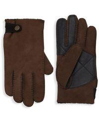 UGG Slim-fit Sheepkin Gloves - Brown