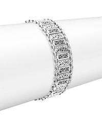 Lois Hill - Silver Small Classic Alternating Bracelet - Lyst