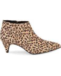 Kenneth Cole Reaction Animal-print Faux Suede Booties - Natural