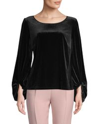 Laundry by Shelli Segal - Classic Long-sleeve Top - Lyst