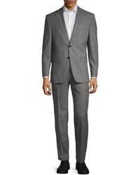 Ralph Lauren Slim-fit Wool-blend Plaid Suit - Grey