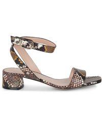 Kate Spade Maui Snakeskin-embossed Leather Sandals - Multicolour