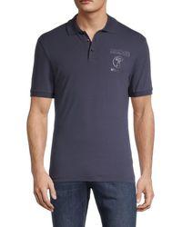 Moschino ! Logo Cotton-blend Polo - Blue