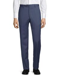 Lubiam - Classic Wool Trousers - Lyst