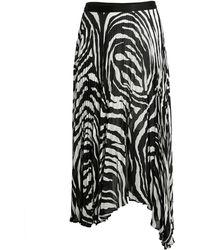Bailey 44 Logan Zebra-print Skirt - Black