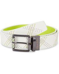 Robert Graham Men's Libyan Simulated Leather Belt - White Green - Size 36
