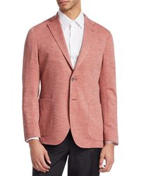 Saks Fifth Avenue Collection Wool-knit Blazer - Red