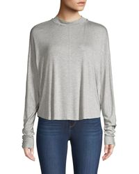Project Social T High-low Dolman-sleeve Top - Gray