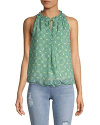 Max Studio Floral-print Blouse - Green