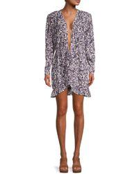 IRO Women's Floral-print Mini Dress - Purple - Size 34 (2)
