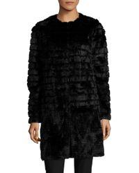 Roberto Cavalli Mink Fur Coat - Black