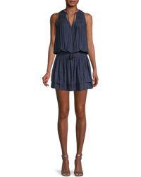 Ramy Brook Kylee Smocked Blouson Dress - Blue