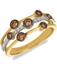 Le Vian Chocolatier® 14k Two-tone Gold, Chocolate Diamond® & Vanilla Diamond® Ring - Metallic
