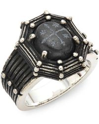 King Baby Studio - Onyx And Sterling Silver Ring - Lyst