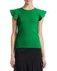Akris Punto Flutter-sleeve Knit Top - Multicolour