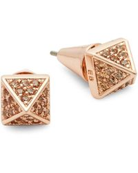 Eddie Borgo Pavé Pyramid Stud Earrings - Multicolour