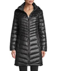 Calvin Klein Packable Quilted Down Coat - Black