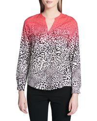 Calvin Klein Leopard Print Button-down Shirt - Multicolour