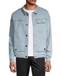 Fila Men's Washington Jacket - Denim - Size Xxl - Blue