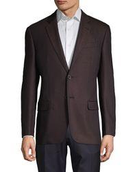 Emporio Armani G-line Fit Textured Stretch Sportcoat - Purple