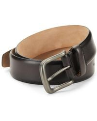 Saks Fifth Avenue Hives Burnished Leather Belt - Brown